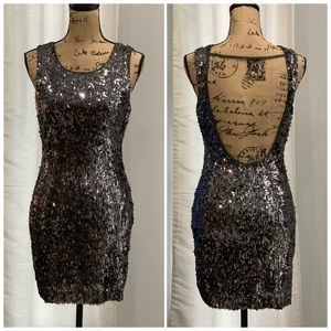 Express sequined dress size S